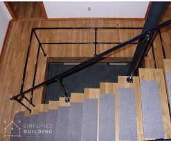 industrial styled railing for loft living simplified building