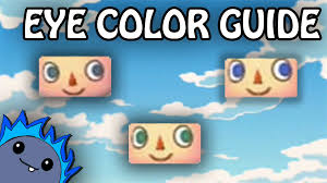 all acnl hairstyles with colours eye color guide animal crossing new leaf youtube