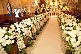wedding flowers church ceremony décor photos all white ceremony flowers inside weddings