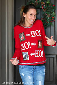 easy ugly sweater a and a glue gun