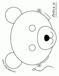 early play templates teddy bear mask templates print