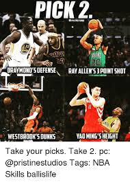 Yao Ming Memes - pick 2 23 20 oraymond s defense ray allen s3point shot westbrook s