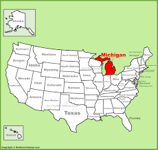 Political Map Us Michigan State Maps Usa Of Mi Map United And Political Usa