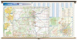 Mesa Verde Map Colorado State Reference Wall Map From Geonova