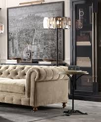 Sofas Chesterfield Style by Furniture Restoration Hardware Maxwell Chesterfield Sofa In Brown