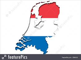 netherlands map flag picture of outline map of netherlands with flag