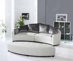 Pillows For Grey Sofa Furniture Fashionable Round Sofa For Bay Window