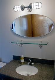 custom bathroom lighting interior industrial mirrors wall hung