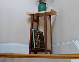 small narrow side table end table with drawer tiger maple cherry narrow end table