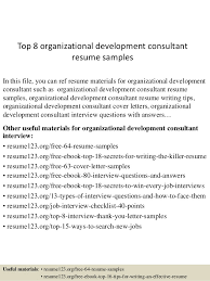 top 8 organizational development consultant resume samples 1 638 jpg cb u003d1431077870