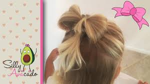 in hair bow hair bow hairstyle tutorial easy how to do a hair bow