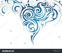 water splash ornament stock vector 287791769