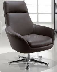 Contemporary Swivel Armchair Full Italian Leather Modern Swivel Chair
