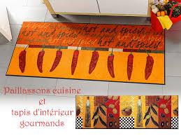 tapis cuisine original paillasson déco et tapis d intérieur l de décorer au pas de