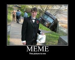 Meme This - the guy holding a sewing machine in front of a ups truck accident