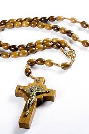 wooden rosary 4633 7 20 wood bead rosary with st benedict cross iconeum llc