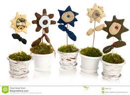 handmade flower in pot stock image image of flower macro 36991145