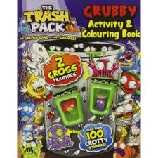 trash pack grubby activity colouring book