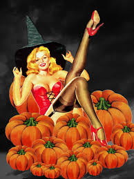 vintage halloween background halloween pinup pumpkin patch witch halloween lovlies