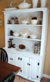 Distressed White Kitchen Hutch Rustic Maple April 2013