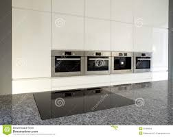 modern built in kitchen in white stock photos image 22466083