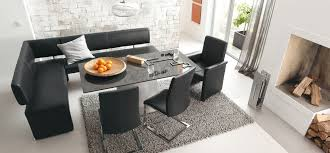 leather corner bench dining table set dining room stunning modern corner dining set with l shaped black