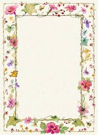 writing paper borders vintage clip art pretty vintage red currant and floral border some of the flowers in the border are pansies