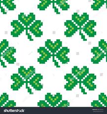 seamless pattern pixel clover 8bit pixel stock vector 581455372