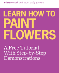 how to paint flowers with acrylics oil u0026 watercolor free
