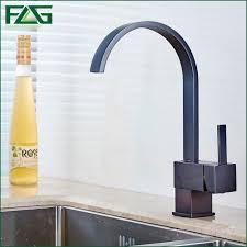rubbed bronze kitchen faucets flg kitchen faucet square waterfall rubbed bronze kitchen