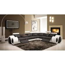 canap d angle cuir noir et blanc canapé d angle cuir noir et blanc angle droite achat vente