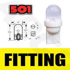 Led Light Bulbs Ebay by 2x Car Led 501 T10 W5w White Xenon Side Light Bulbs Uk