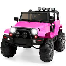 cool pink jeep best choice products 12v ride on car truck w remote control 3