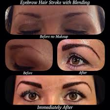 Eyebrow Tattoo Before And After Hair Stroke Eyebrow Tattoo Before And Immediately After Yelp