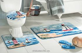 Gray Bathroom Rug Sets Find And Save Lighthouse Toilet Seat Cover Bath Rug Set Master