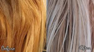 how to remove brass from blonde hair ash blonde hair tutorial