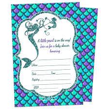 amazon com glitter mermaid baby shower invitations 10ct