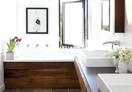 painting wood bathroom vanity white reclaimed modern accents