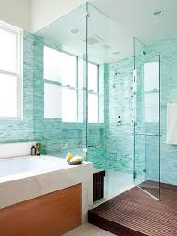 Bathroom Mosaic Tiles Ideas by Two Person Walk In Shower Design With Turquoise Mosaic Tiling