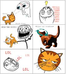 Meme Comics - troll face comics meme comic spin the kitty hehee you mad bro