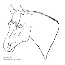 coloring pages quarter quarter stallion headstudy coloring page