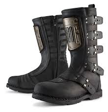 best street bike boots icon 1000 elsinore hp boots revzilla