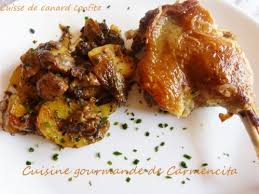cuisiner cuisse de canard confite cuisses de canard confites cuisine gourmande de carmencita