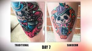 foot tattoo aftercare question the saniderm tattoo aftercare challenge youtube