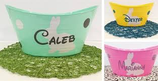 personal easter baskets personalized easter baskets