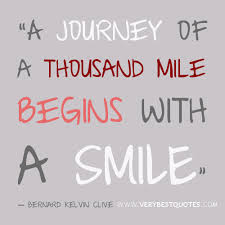 wedding quotes journey begins a journey of a thousand mile begins with a smile quotes