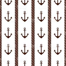 Nautical Theme Vector Seamless Pattern With Anchor And Creative Geometric