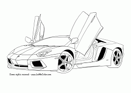 car to print and coloer page of the lamborghini aventador a two