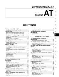 2000 nissan sentra automatic transmission section at pdf