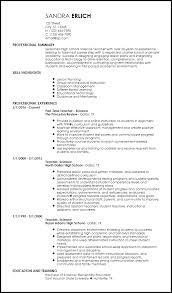 Teaching Resume Template Free Creative Resume Templates Resumenow